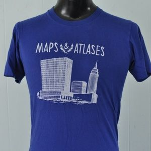 Maps & Atlases Band T-shirt Tee Royal Blue Indie S